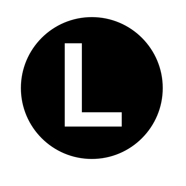 White Letter L Clip Art At Clker Com Vector Clip Art Online