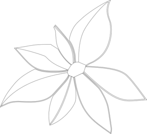 Flower Outline Imperfect Clip Art