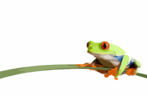 Coolred Eyed Frog Clip Art