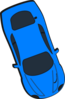 Blue Car - Top View - 290 Clip Art