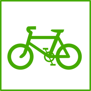 Green Bicycle Icon Clip Art