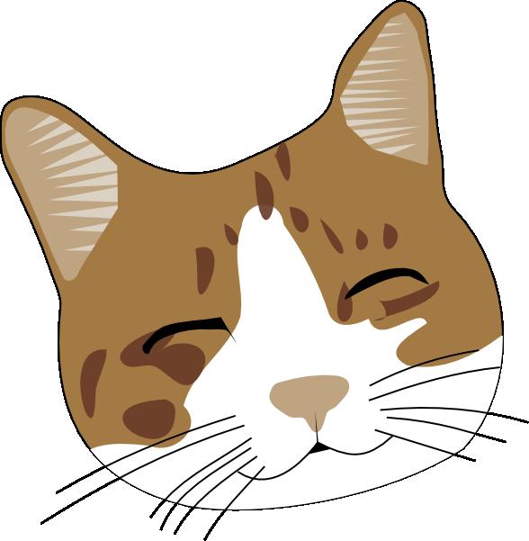 Happy Cat Face Clip Art at Clker.com - vector clip art ...