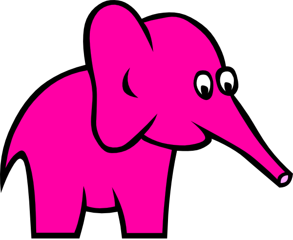 First Pink Elephant Clip Art at Clker.com - vector clip ...