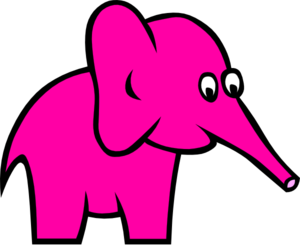 First Pink Elephant Clip Art