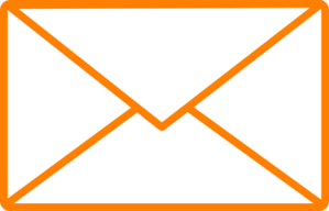 Orange Envelope Clip Art