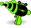 Ray Gun Green And Black Clip Art