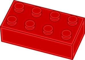 Red Lego Brick Clip Art