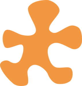 Light Orange Moving Puzzle Piece Clip Art