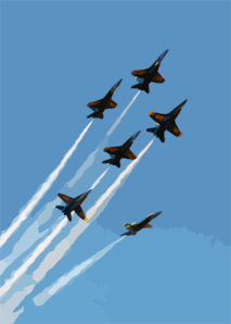 The U.s. Navy S Flight Demonstration Team, The Blue Angels Put On A Spectacular Show During The Annual Naval Air Station Lemoore Air Show. 3 Clip Art