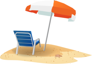 Beach Chair And Umbrella Clip Art