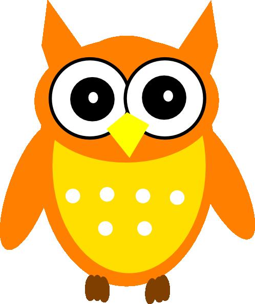 Orange Owl Clip Art at Clker.com - vector clip art online ...