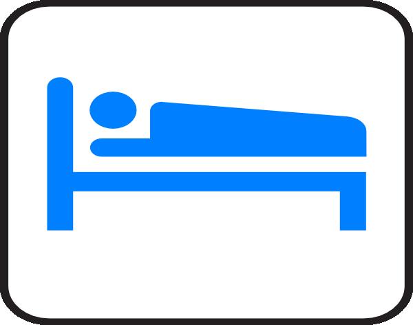Blue Bed Hotel Clip Art At Clker Com Vector Clip Art