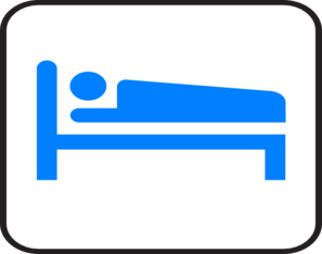 Blue Bed Hotel Clip Art