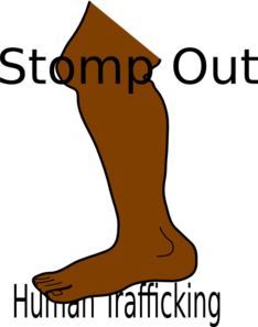 Stomp Out Human Trafficking Clip Art
