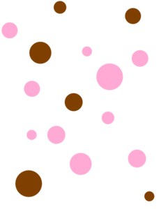Brown & Pink Polka Dots Clip Art