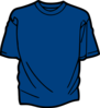 T Shirt Template Blue Clip Art