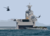 Activity Hums Around The San Diego-based Amphibious Assault Ship As U.s. Marines Go Ashore In Kuwait. Clip Art