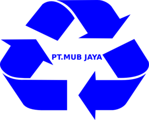 Blue Recycle Logo Clip Art