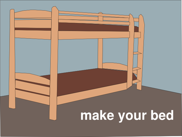 Download this image as. Make Your Bed Clip Art at Clker com   vector clip art online