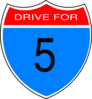 Drive For Five Clip Art