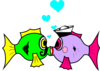 Sailor Kiss Fish 2 Clip Art