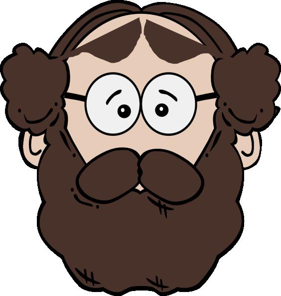 beard man clip art at clkercom vector clip art online