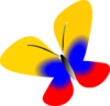 Colombia Flag Butterfly Clip Art