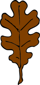 Brown Oak Leaf Clip Art