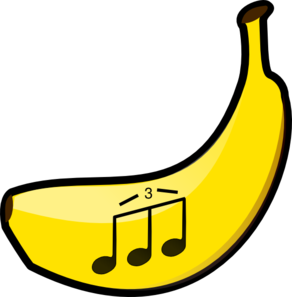 Banana Triplet Notes Clip Art