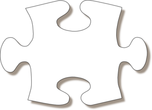 Jigsaw White Puzzle Piece Large Shadow Clip Art