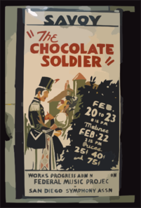 The Chocolate Soldier Clip Art