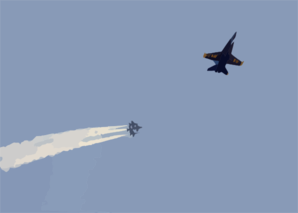 Navy Blue Angels Perform Aerial Maneuvers Clip Art