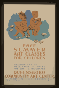 Free Summer Art Classes For Children Drawing And Painting, Metal Craft - Sculpture, Pottery - Lithography : Queensboro Community Art Center. Clip Art