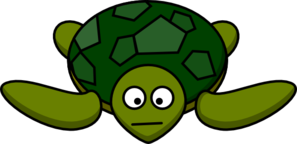 Turtle With Mouth Clip Art