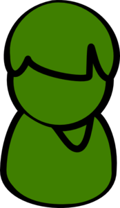 Green Weeble Clip Art