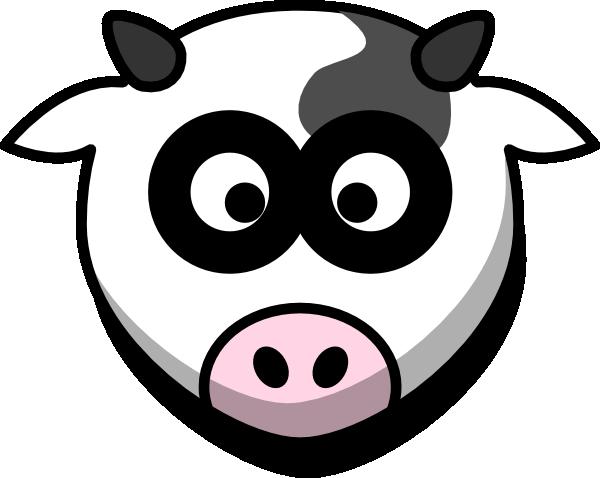 cow head with shadow clip art at clker com vector clip art online rh clker com cow face clip art vintage Cow Face Clip Art Black and White