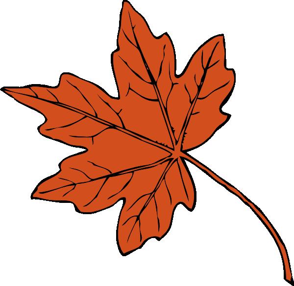 orange leaf clip art - photo #3