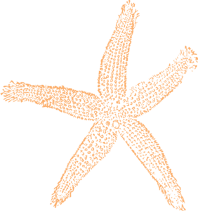 Orange Starfish For Wedding Clip Art