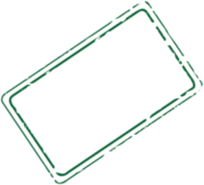 Green Rectangle Stamp Clip Art