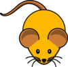 Orange Mouse W/ Brown Ears Clip Art