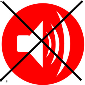No Speaker Phone Zone Clip Art