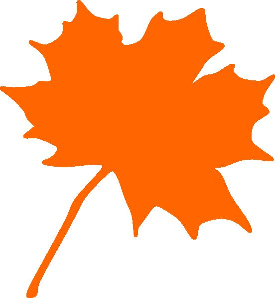 orange leaf clip art - photo #1