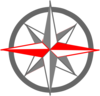 Red Gray Compass Clip Art