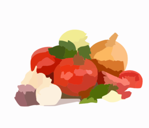 Organic Vegetables Clip Art