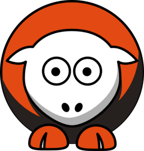 Sheep 3 Toned Cleveland Browns Colors Clip Art