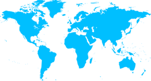 Blue Map Of Countries Clip Art