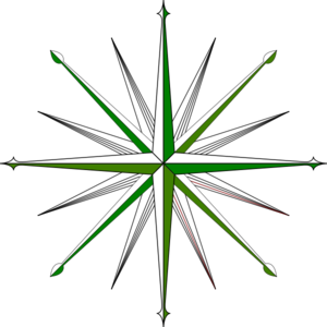 Green And Black Compass Clip Art