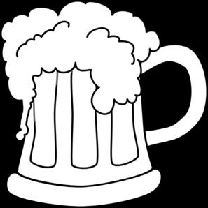 beer mug outlined 2 clip art at clker com vector clip art online rh clker com mug of beer clipart black and white
