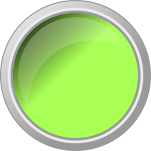 Glossy Green Push Button  Clip Art