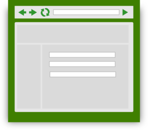 Web Browser With Green Tint Clip Art